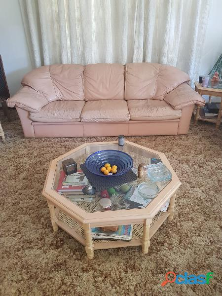 Genuine Leather Couches & Tables 6