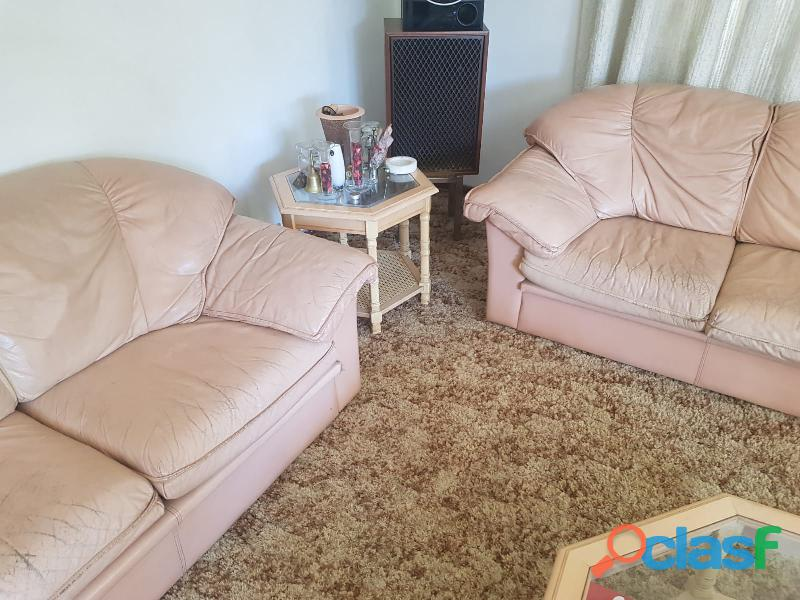 Genuine Leather Couches & Tables 4