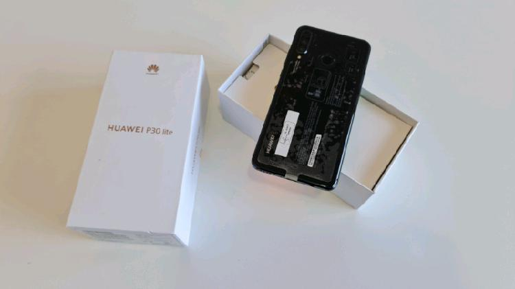 Huawei P30 Lite With Box For Sale Dual Sim Black in Color