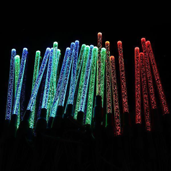8pcs solar light led bubble tubes outdoor path garden lights