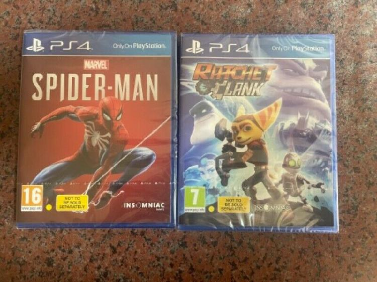 Boxed PS4 games