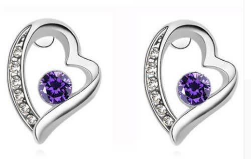 Fashion heart star stud earrings ntear4008 (l051)