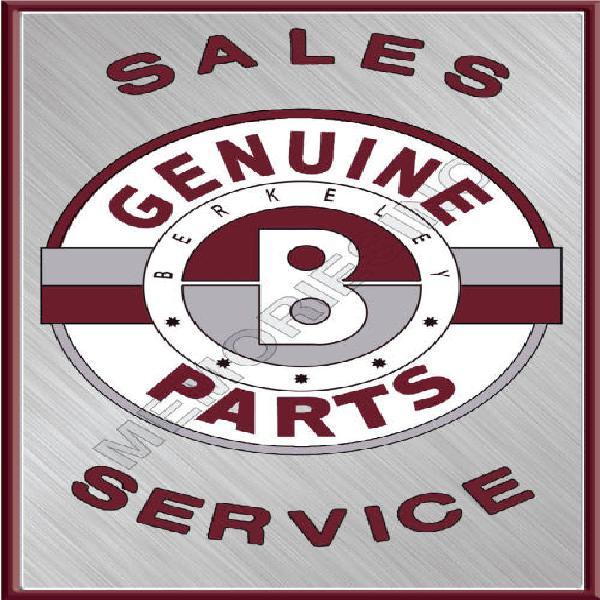 Berkeley sales services - classic metal sign
