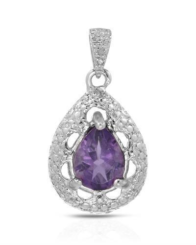 Brand new pendant with 0.96ctw precious stones - genuine