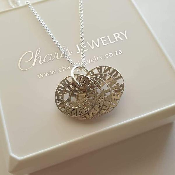 N141 - personalized 925 sterling silver mother necklace - up