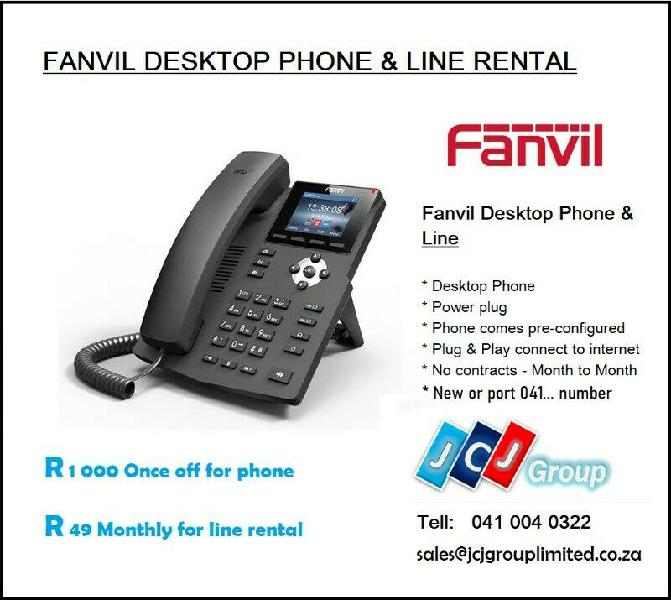 Voip telephone line for home or business