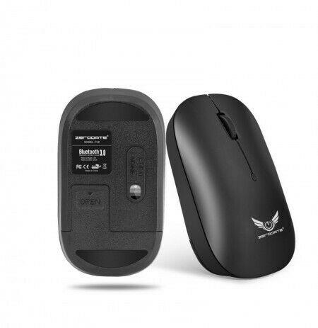 Zerodate t18 wireless bluetooth mouse with 1600 dpi optical