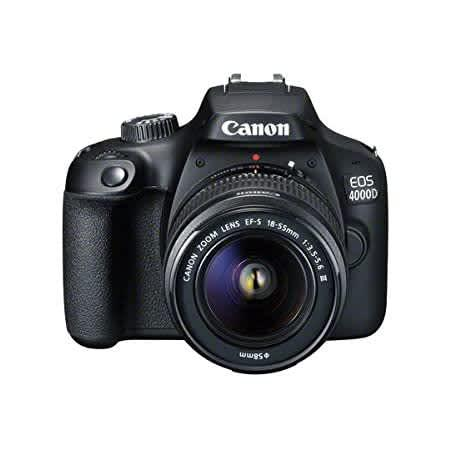 Canon 4000d camera kit - lens, charger & battery included