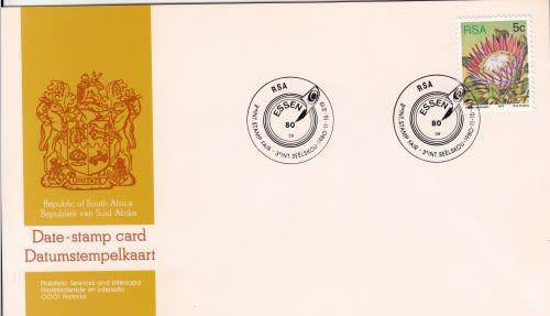Rsa date-stamp card 1980: 3rd international stamp fair