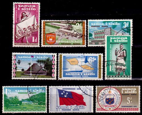 Samoa 1962, 2 july. symbols of independence, set, uh. cv+/-