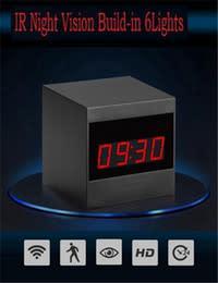 Wifi hd remote network electronic clock camera 1080p
