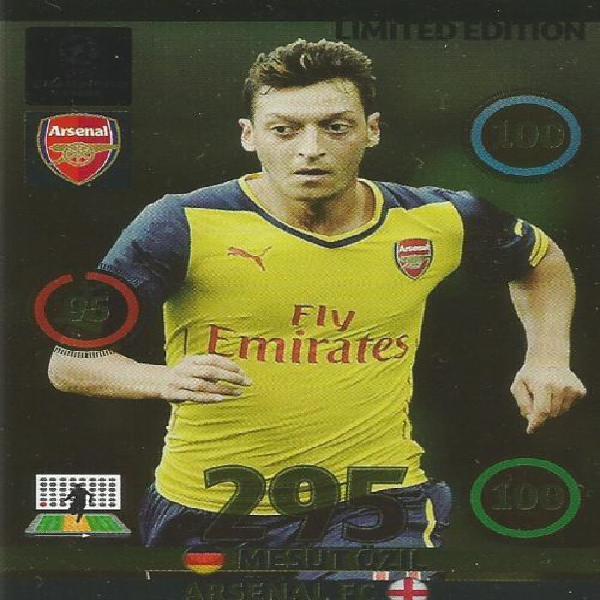 Champions league 2014/15 - mesut ozil limited edition card