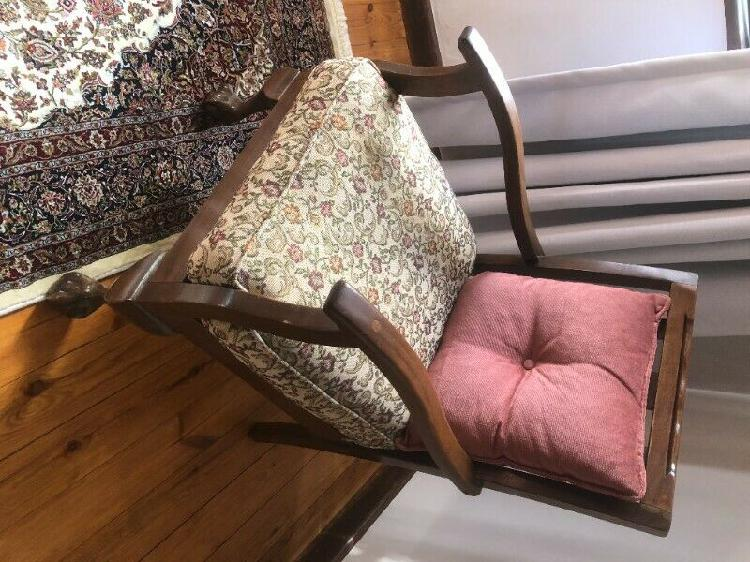 Imbuia ball & claw arm chairs