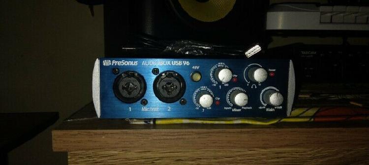 Presonus audio box usb 96 audio interface