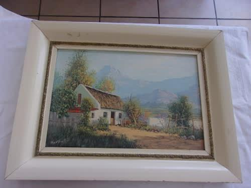 Original framed oil on canvas signed by reg. a grattan -
