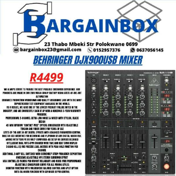 Behringer djx900usb mixer