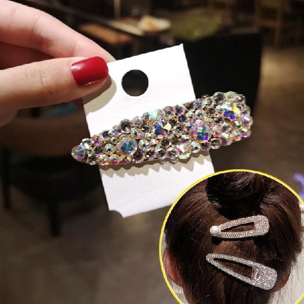 Fashion flash luxury diamond crystal pearl elegant women