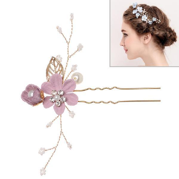 Fashion flower hair combs headdress prom bridal wedding hair