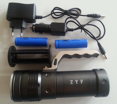 Cree led torch rechargeable torch high power
