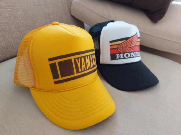 Retro style motocross caps
