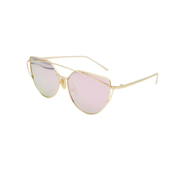 Unisex fashion color film uv400 reflective sunglasses (gold