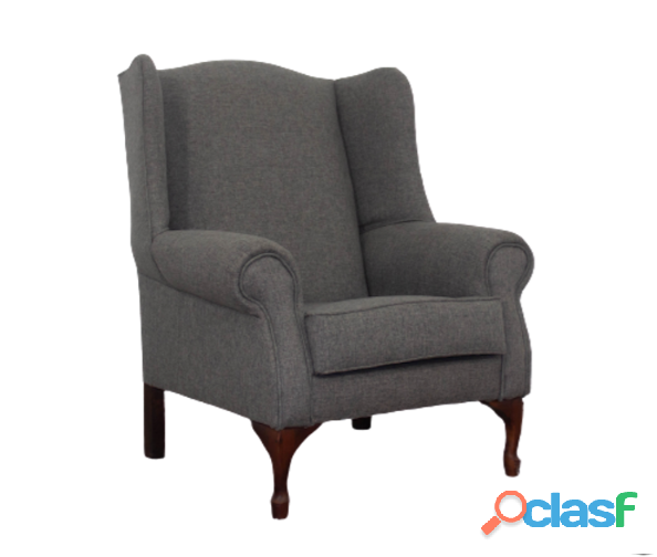 Buy Wingchair   Grey Fabric | HG BAVA