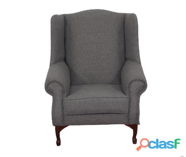 Buy Wingchair   Grey Fabric | HG BAVA 1