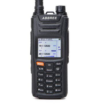 ABBREE AR-F6 Walkie Talkie Six 6 Bands Police Band LCD Color