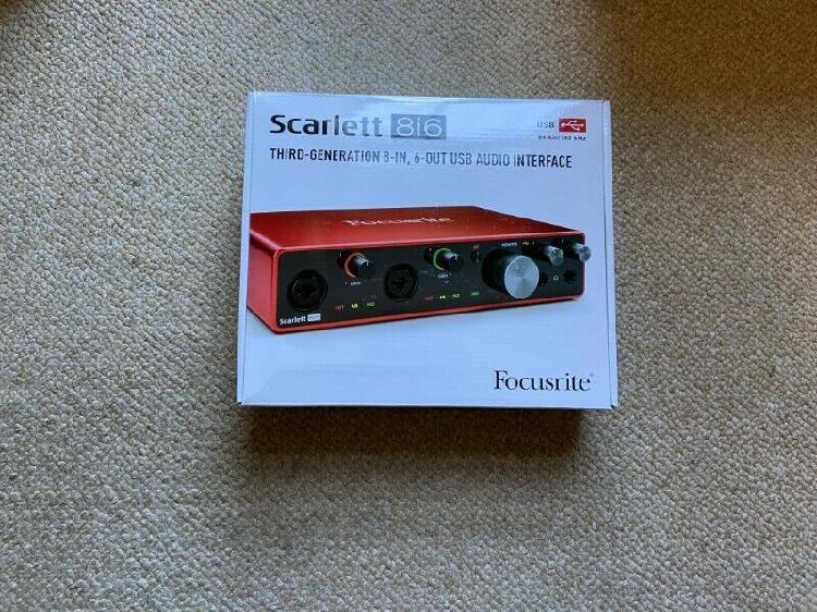 Focusrite Scarlett 8i6 3rd Gen Audio Interface (Mint