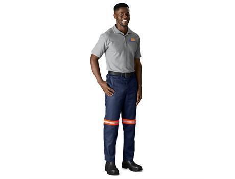 Trade Polycotton Pants - Reflective Legs - Orange Tape - 40