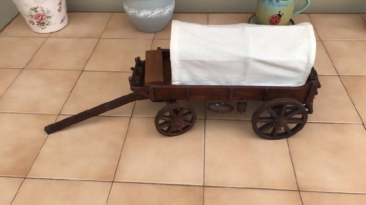 Vintage Miniature Handcrafted 'Ossewa' Ox-Wagon