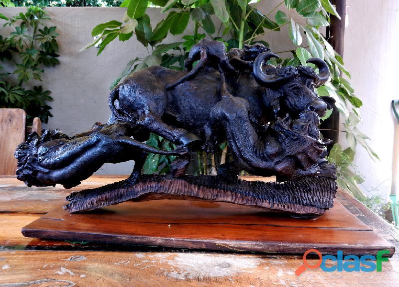 Ironwood Buffalo Carving