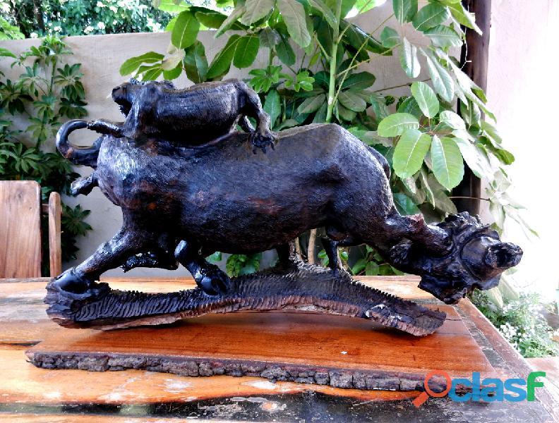 Ironwood Buffalo Carving 2