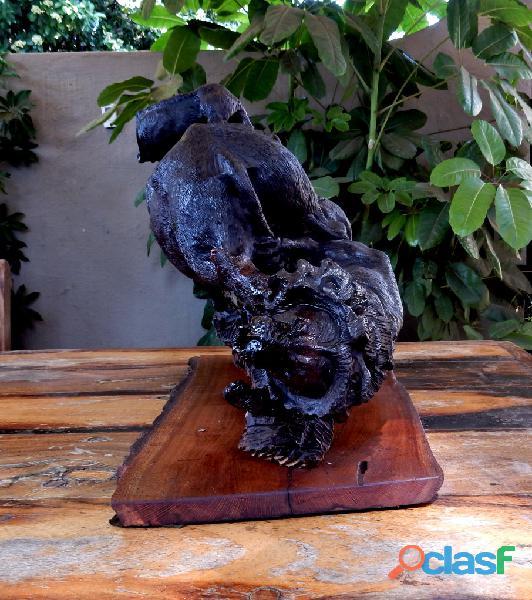 Ironwood Buffalo Carving 3