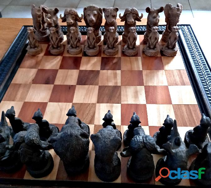 "Large ""Big Five"" Chess Set"
