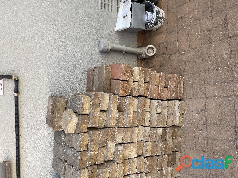 Paving bricks used