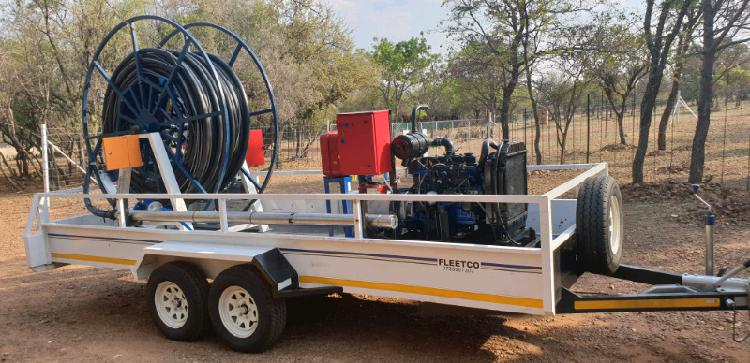 For sale!! brand new borehole and pipe line testing trailer