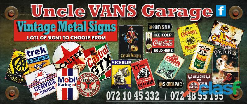 Vintage Metal Signs For Sale